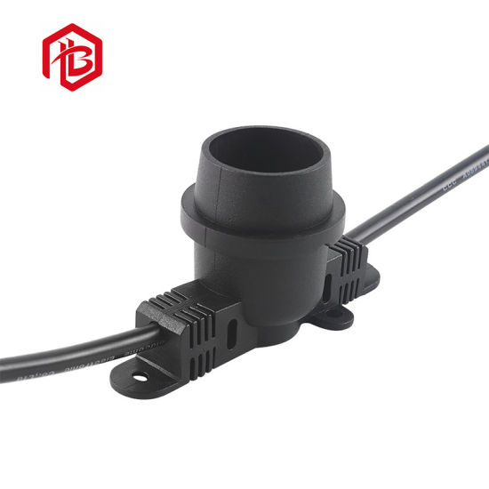 Hot Sell 2 to 8pin Waterproof E27 Lamp Holder Cap Metal Connector
