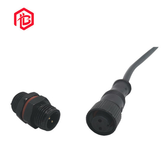 Male and Female Electrical IP68 Cable M12 2 Pin Electric Plug Female